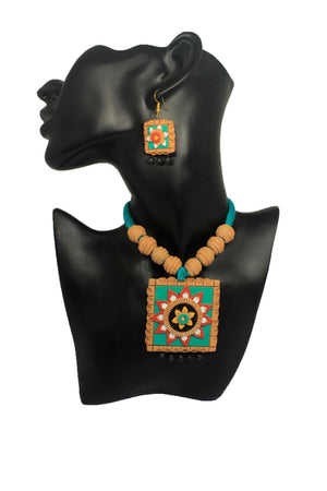 EthniCache Terracotta Jewelry Clay Square Terracotta Set