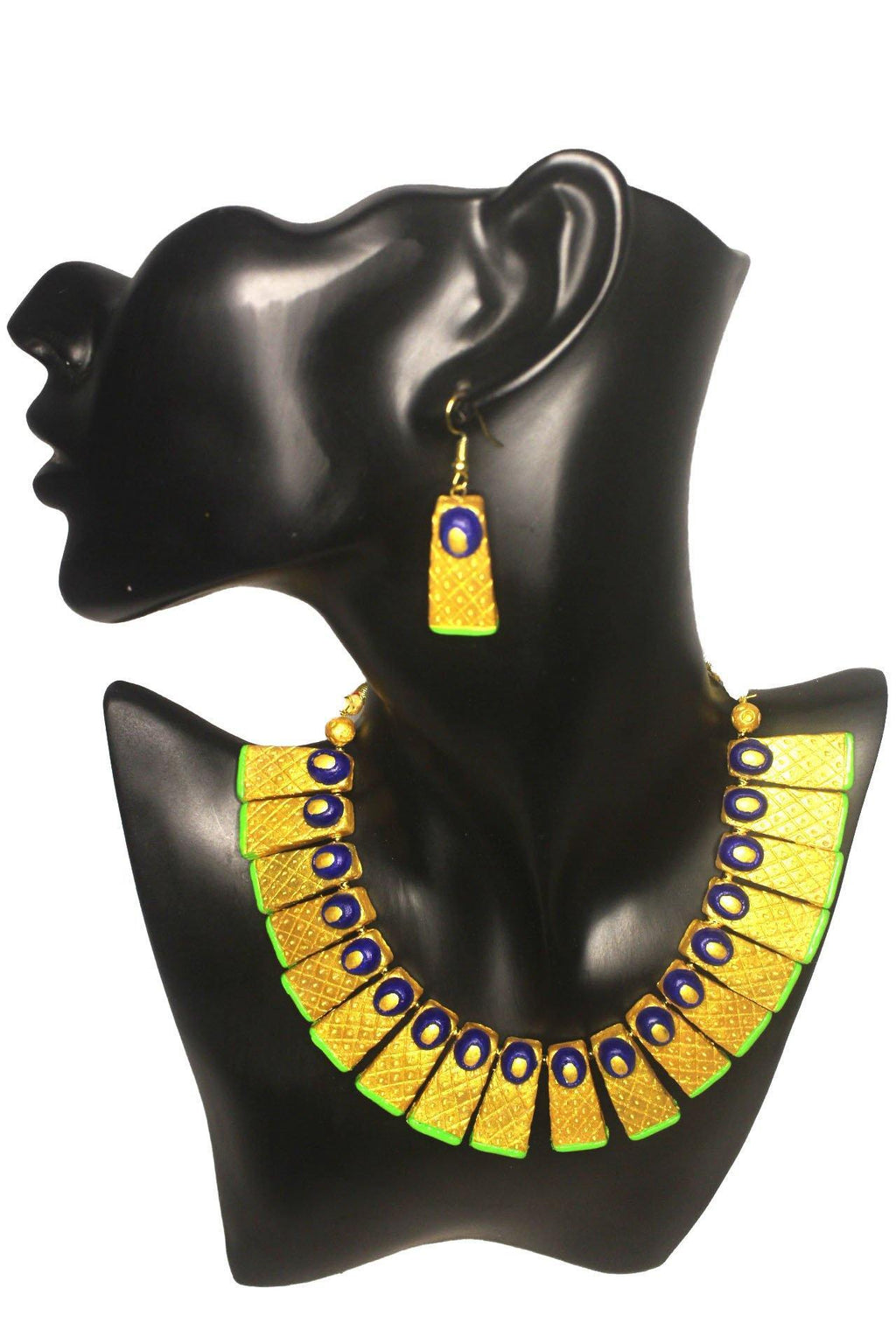 EthniCache Terracotta Jewelry Contemporary Aura Terracotta Set