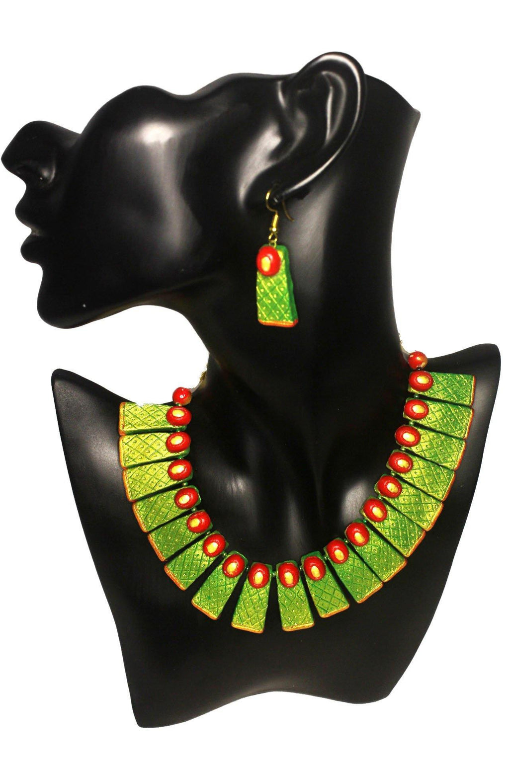 EthniCache Terracotta Jewelry Contemporary Hues Terracotta Set