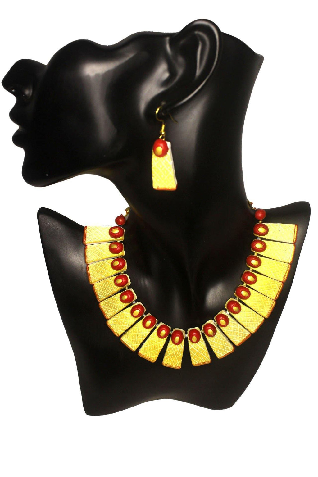 EthniCache Terracotta Jewelry Contemporary Phiz Terracotta Set