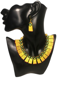 EthniCache Terracotta Jewelry Contemporary Streaks Terracotta Set