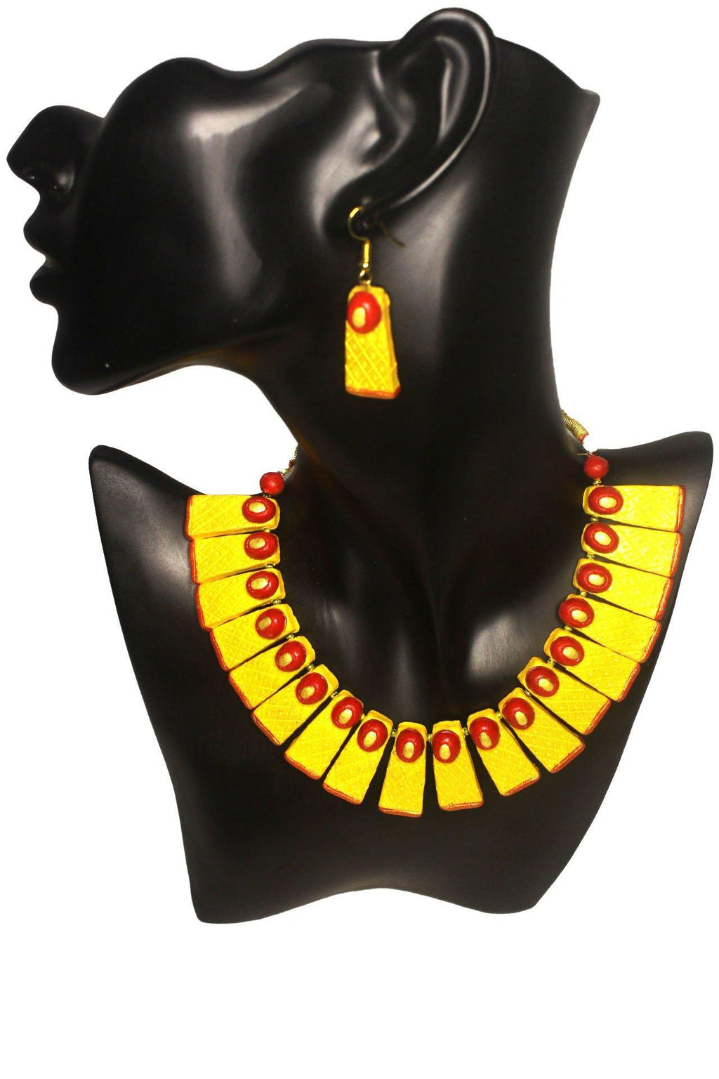 EthniCache Terracotta Jewelry Contemporary Tones Terracotta Set