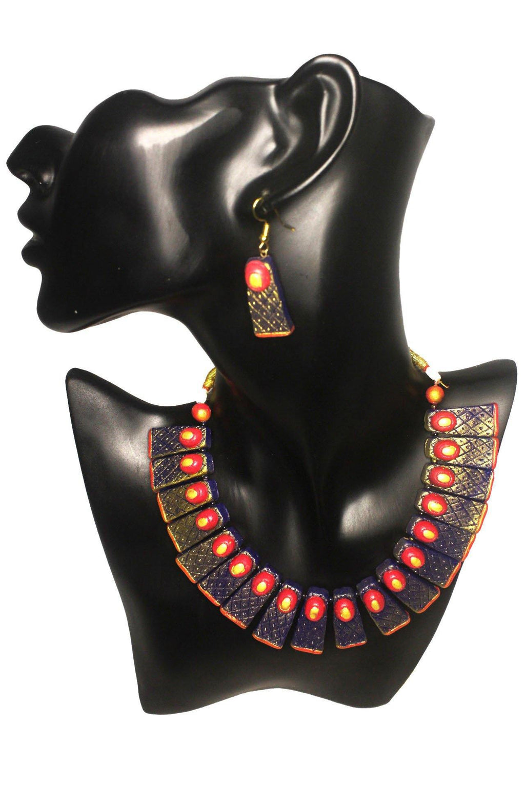 EthniCache Terracotta Jewelry Contemporary Visage Terracotta Set