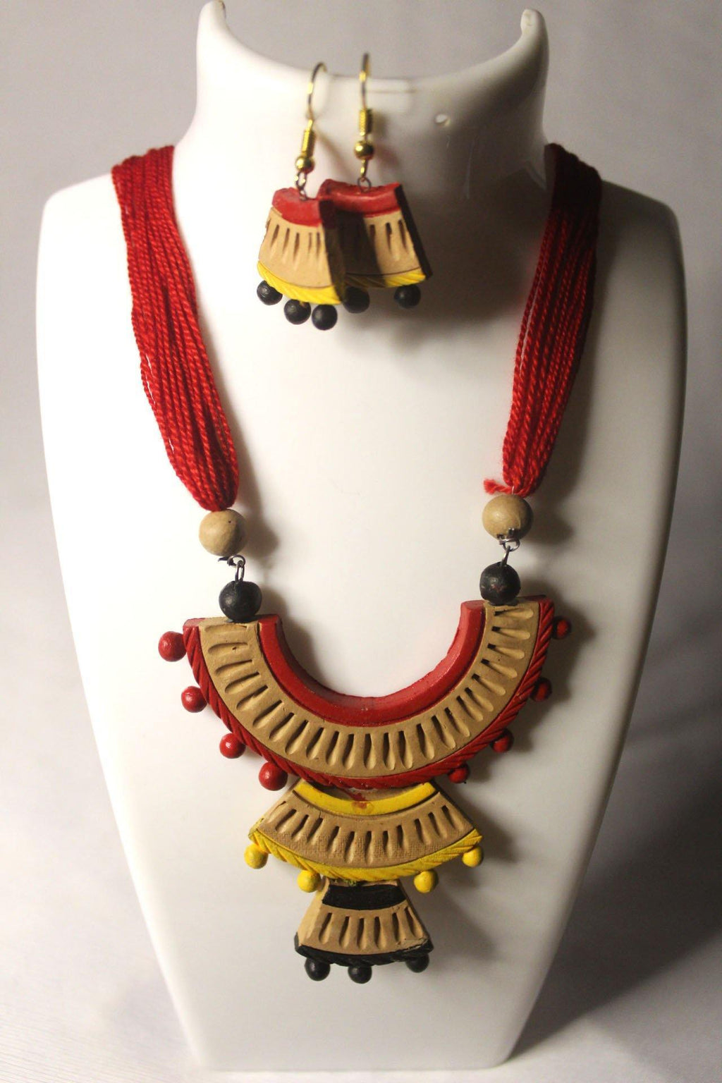 EthniCache Terracotta Jewelry Graceful Ethnic Terracotta Set