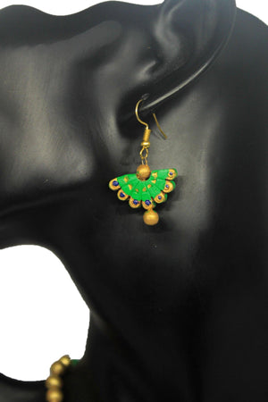 EthniCache Terracotta Jewelry Southern Green Terracotta Set