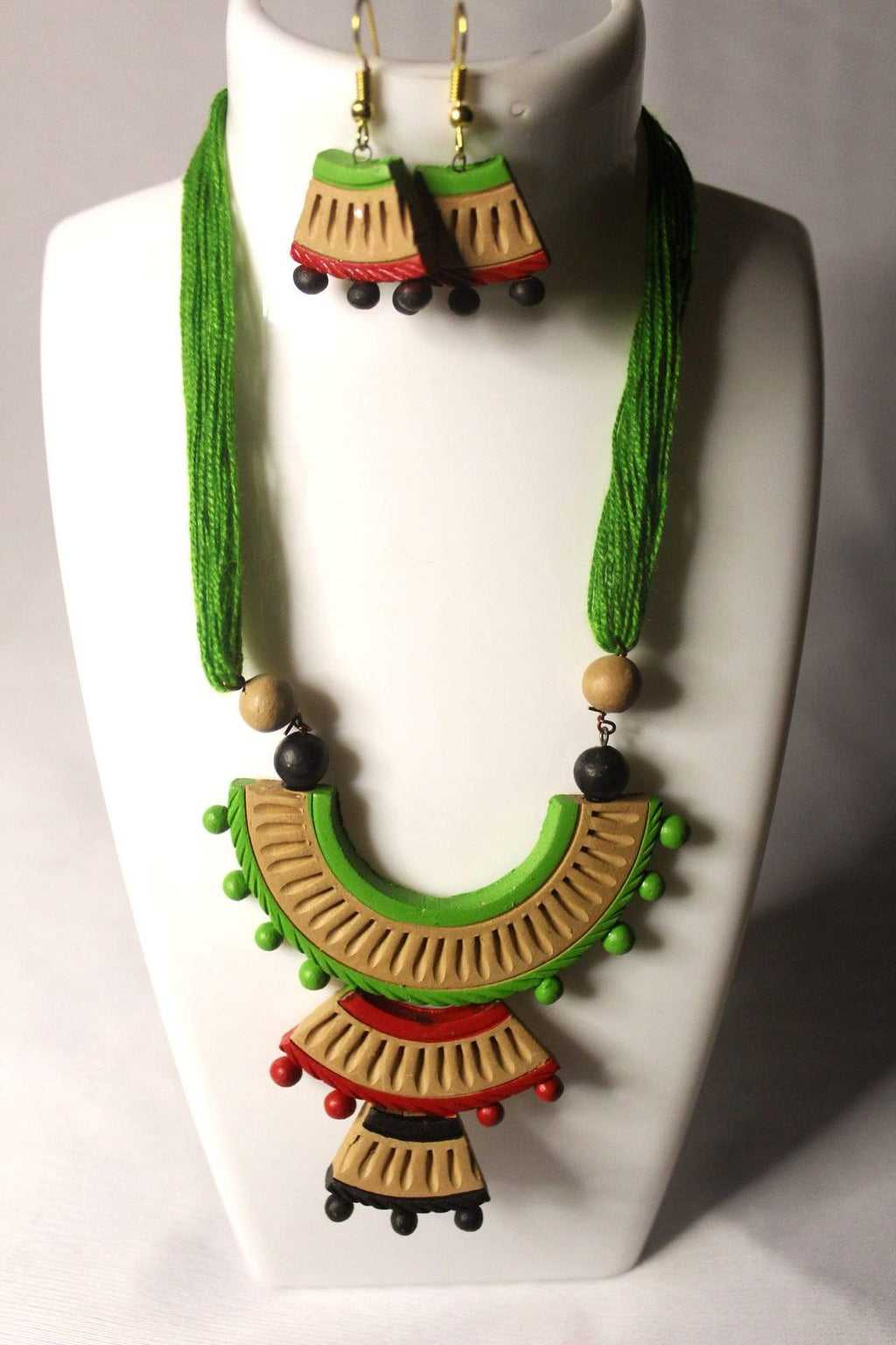 EthniCache Terracotta Jewelry Traditional Ethnic Terracotta Set