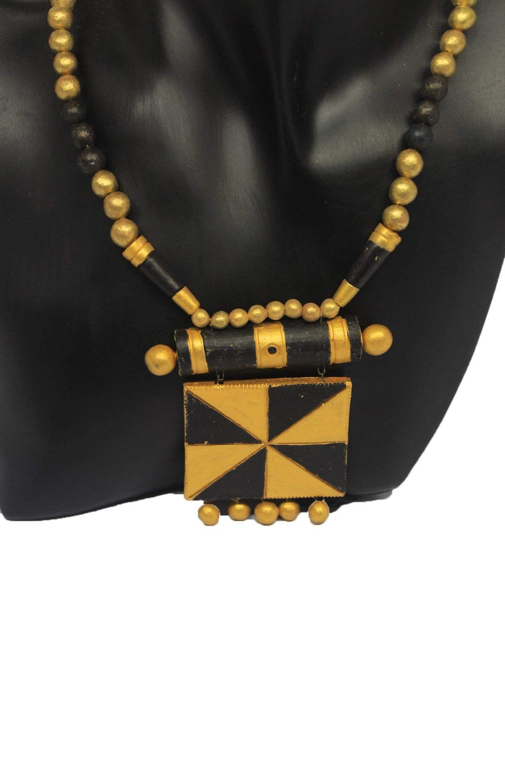 EthniCache Terracotta Jewelry Tribal Square Terracotta Set