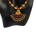 EthniCache Terracotta Jewelry Tribal Yellow Terracotta Set