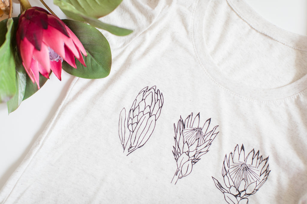 Protea Flower T-Shirt (UNISEX FIT)