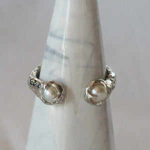 Twin Pearls ring