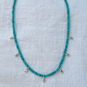 Seven Seas turquoise droplet layering necklace