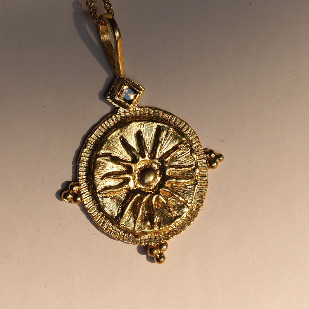 Sun-drenched Zircon Gemstone Pendant Necklace