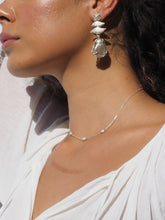Fine chain pearl necklace in gold or silver