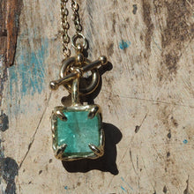 Reserved for Gabrielle - Bespoke Australian Emerald pendant necklace 14ct gold