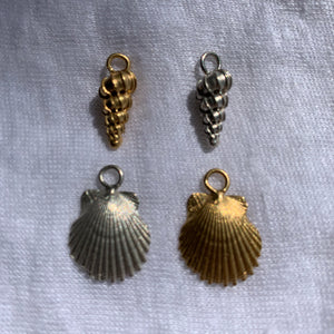Shell charms - for wavy hoops, sold individually