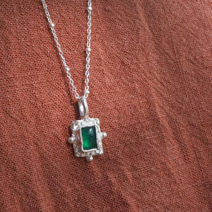 Arcadia green onyx necklace