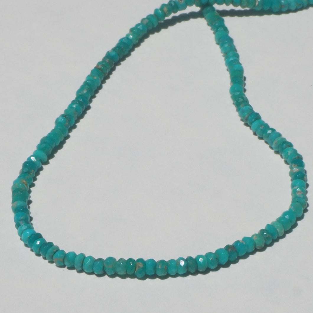 Faceted turquoise beaded necklace