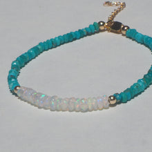 Opal & Arizona turquoise adjustable bracelet