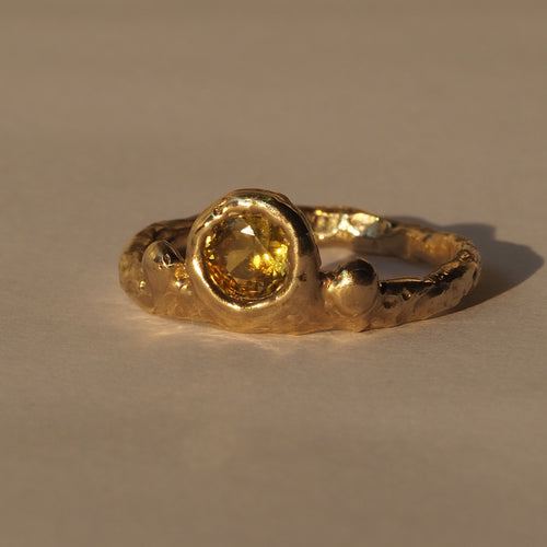Sale! Radiance yellow sapphire 9ct gold ring