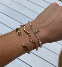 Making waves cuff in silver or gold