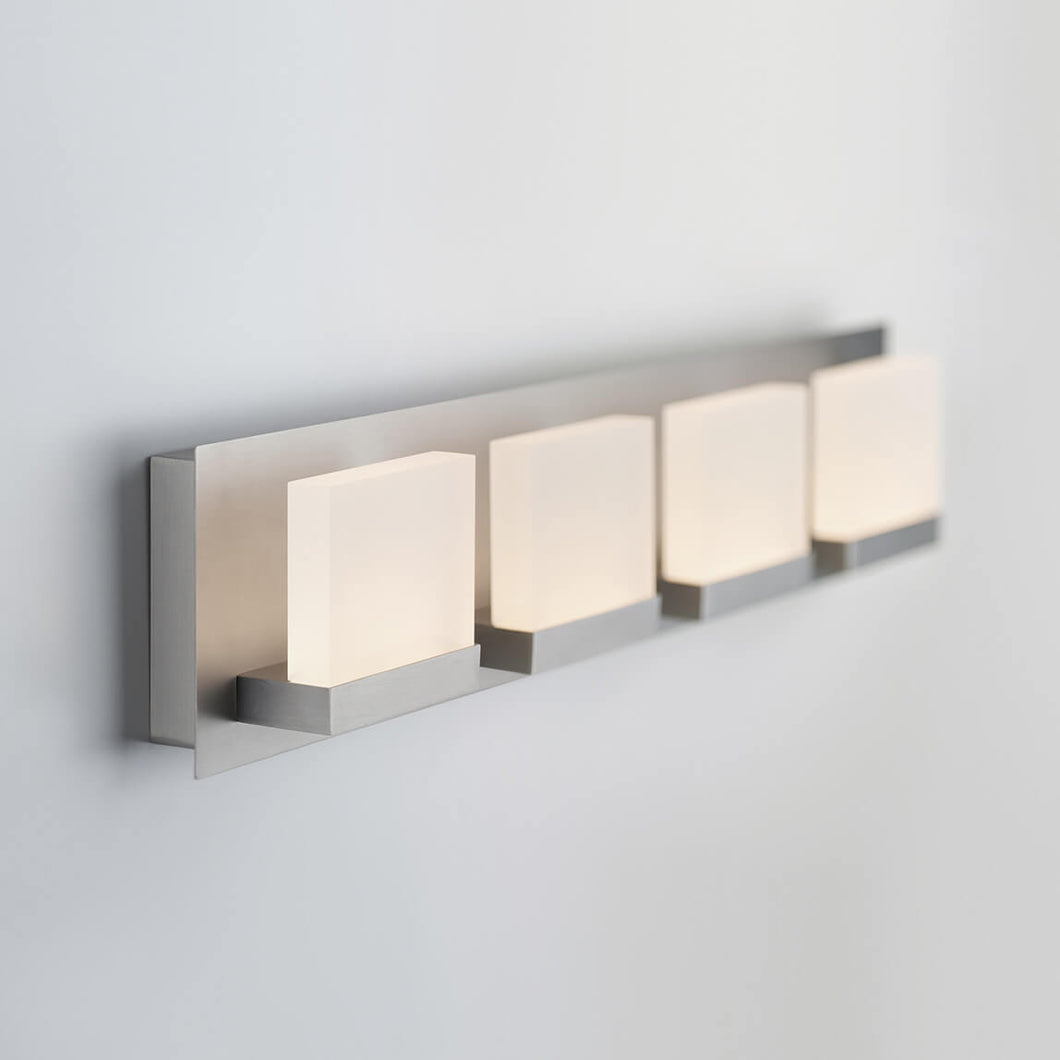 Frosted Cubes 4-light LED Vanity Light