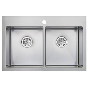 Tandem Double Bowl Stainless Steel Sink