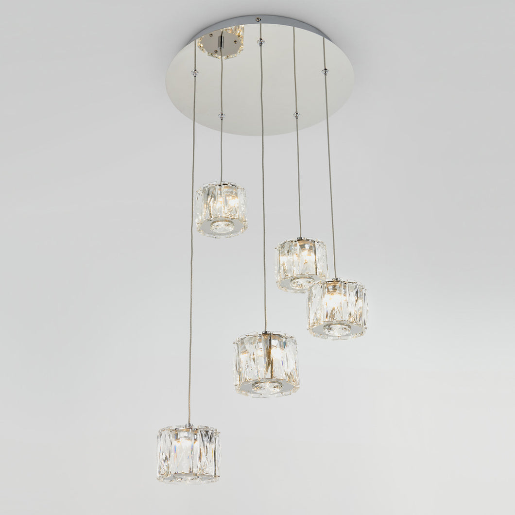 Glaceo 5-light Integrated LED Pendant Light