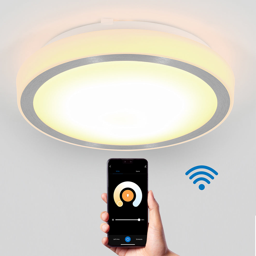 Pluto Artika Smart Wi-Fi LED Ceiling Light