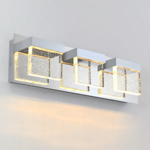 Bubble Cube 3-Light LED Vanity Light
