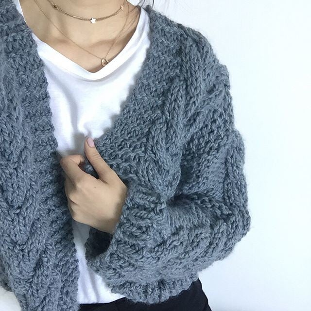 Cable Bomber Sweater Kit by WATG