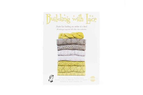building with lace book front cover