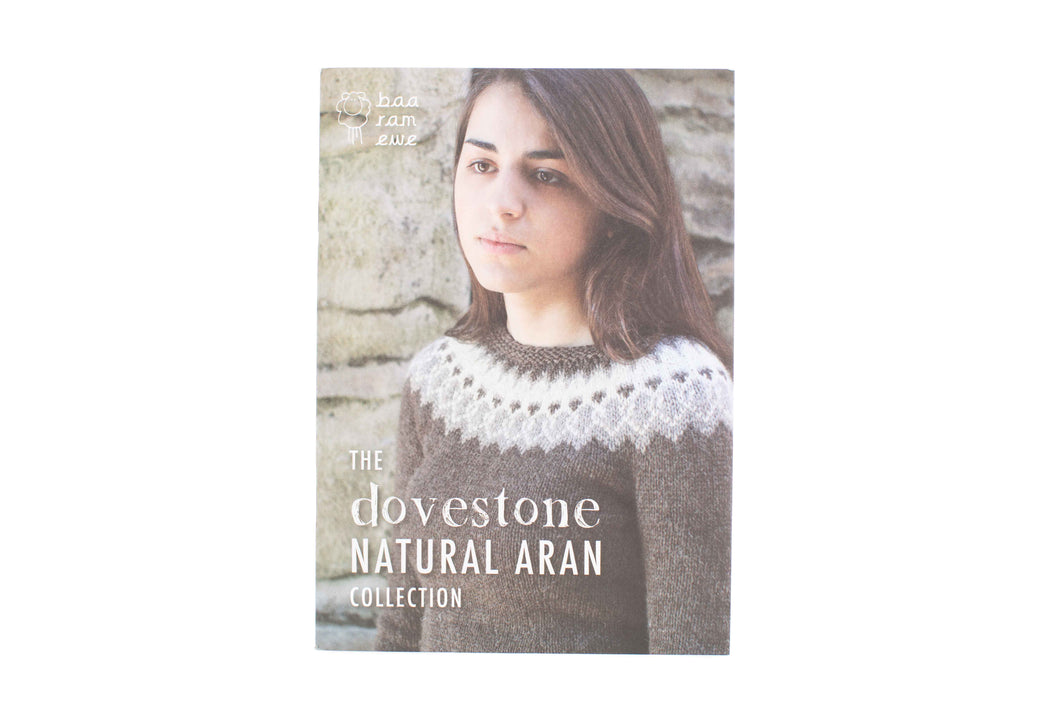 dovestone natural aran collection book front cover