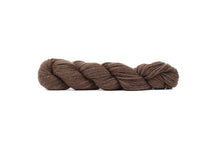 blue sky baby alpaca yarn natural streaky brown