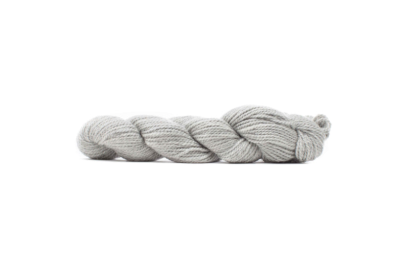 blue sky baby alpaca yarn natural light gray