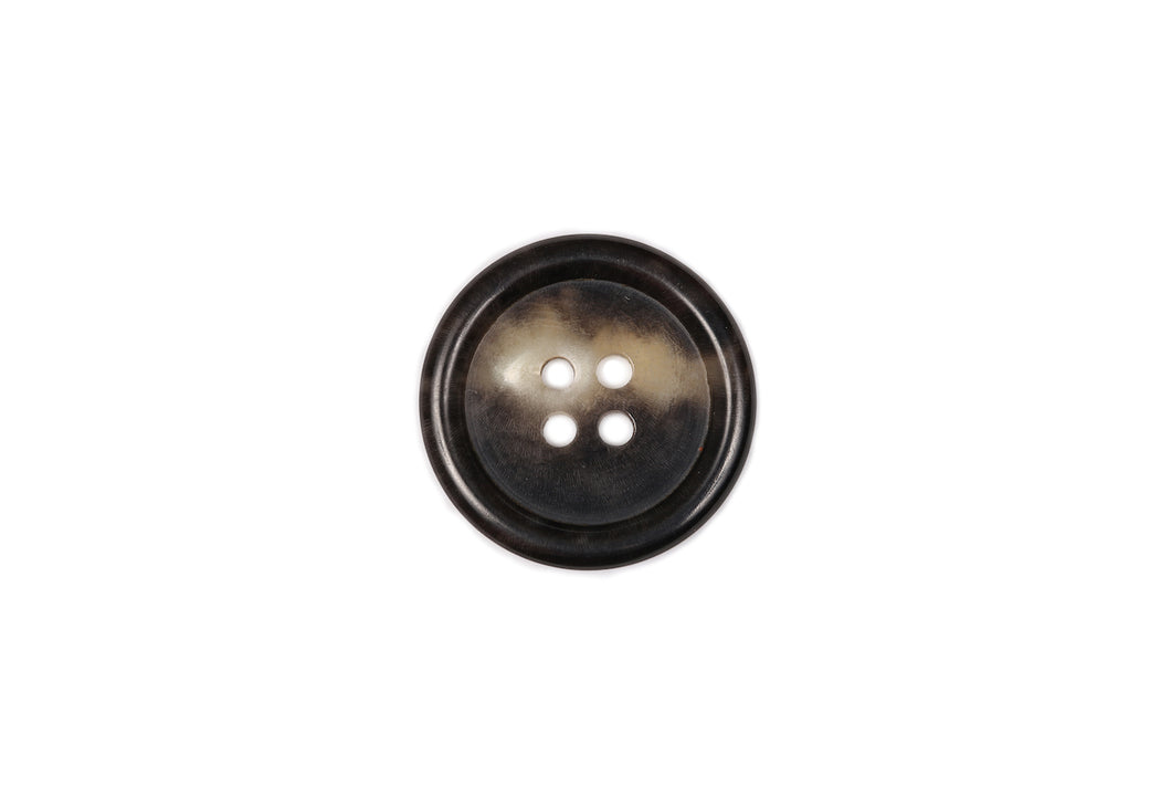 Skacel Collection - Button, Horn with Classic Rim Edge Round, 23 mm