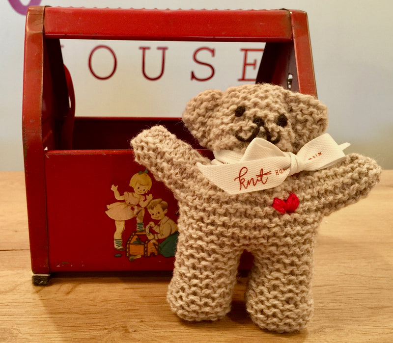"KIT: ""All You Knit is Love"" Stuffed Bear"
