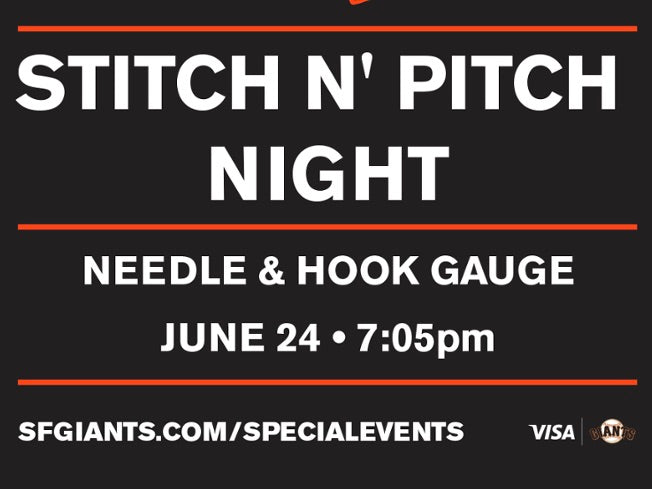 Stitch n Pitch Night at the Giants