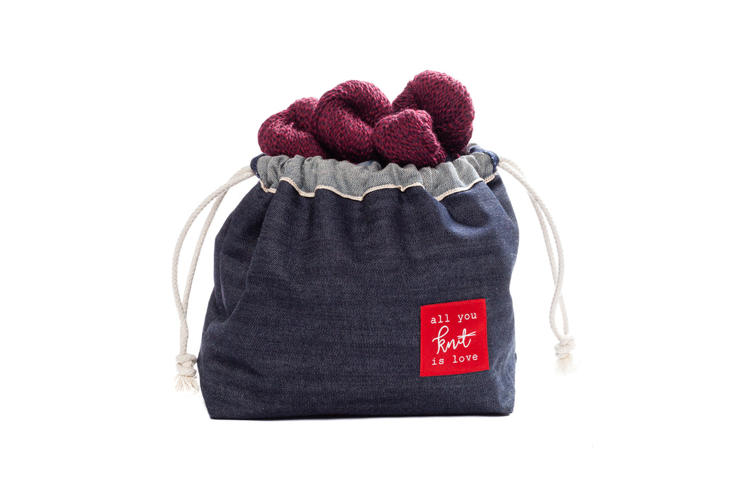 Knit House Denim Project Bag by Equipe