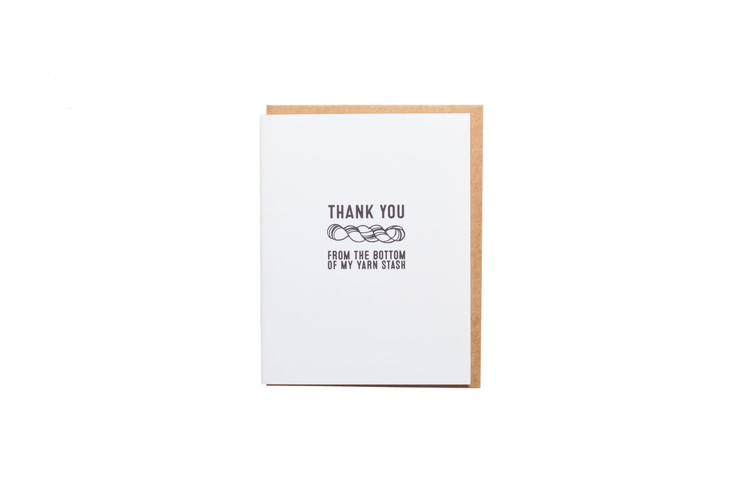 Thank You From the Bottom Of My Yarn Stash Card