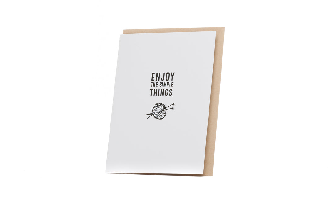 Enjoy the Simple Things Card