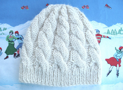 Exclusive: Chunky Cable Hat Pattern
