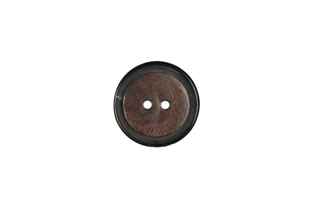 Skacel Collection - Button, Black/Brown Horn, 40 mm