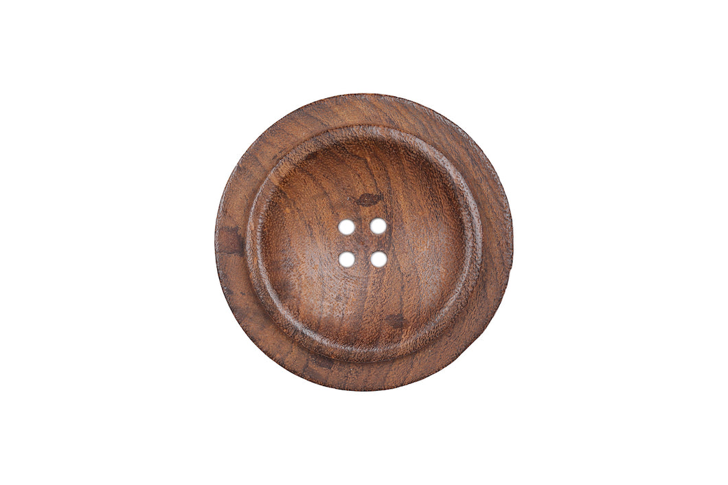Skacel Collection - Button, Brown Dark Brown Wood, 50 mm