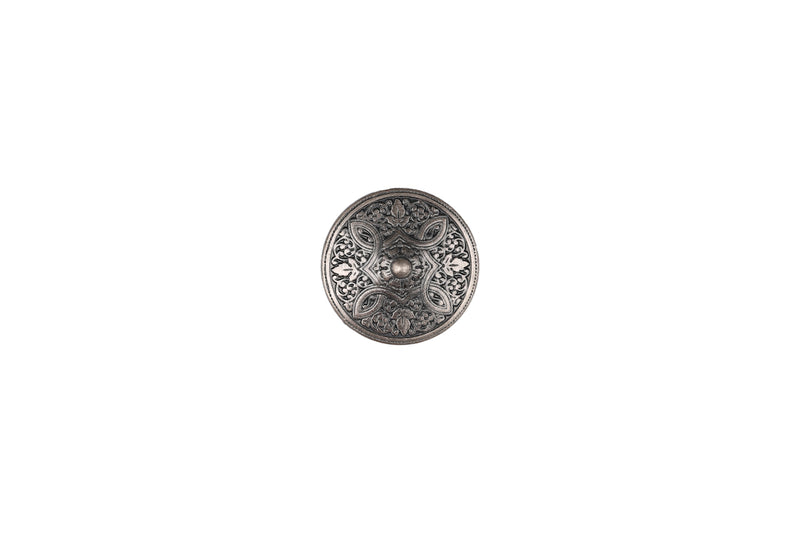 Skacel Collection - Button, Metal Antique Silver Madonna, 15 mm