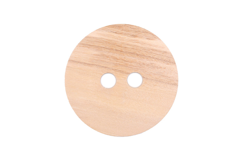 Skacel Collection - Button - Natural Olive Wood Round