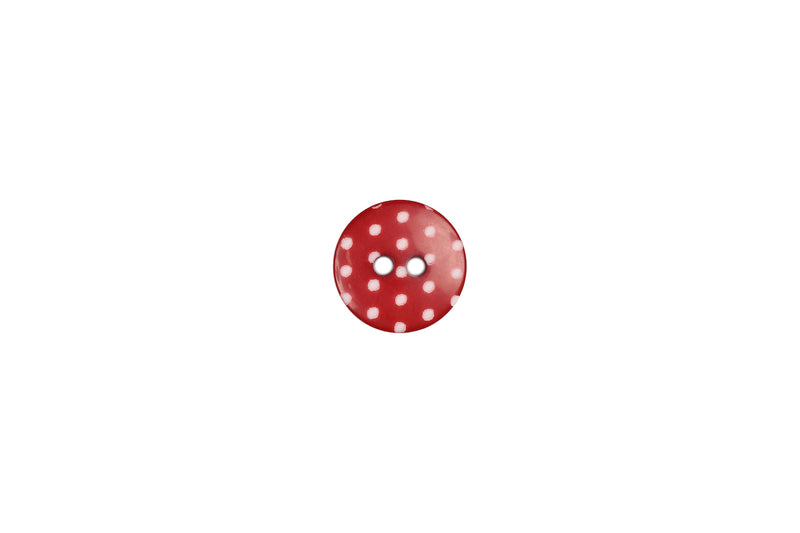 Skacel Collection - Button, Round Plastic Polkadots, 14 mm