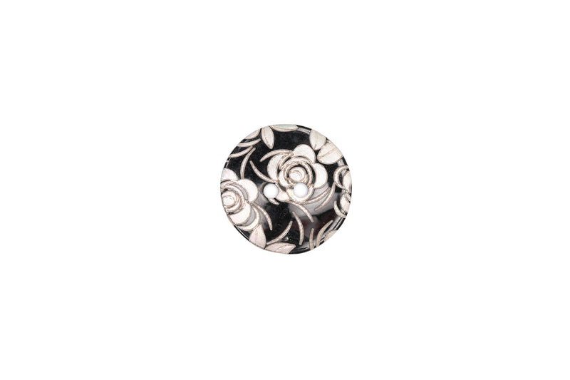 Skacel Collection - Button, Shell Roses Round, 20 mm