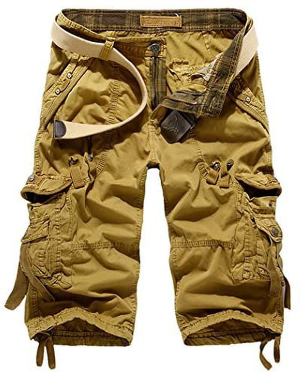 Men's Cotton Casual Slim Fit Cargo Shorts
