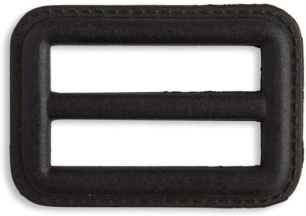 "Imitation Leather Belt Buckle 1 1/2"" Black for Overcoats and Raincoats"