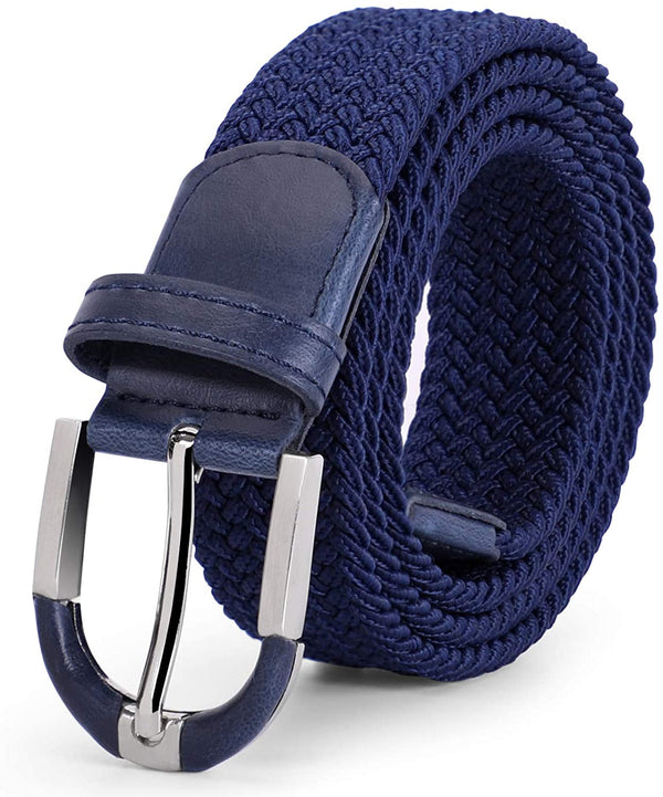 JASGOOD Braided Elastic Belts Mens,Woven Stretch Belt-Causal Belt for Golf Pants Jeans Women/Junior